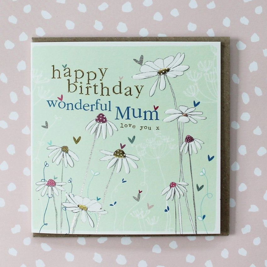 HAPPY BIRTHDAY WONDERFUL MUM CARD